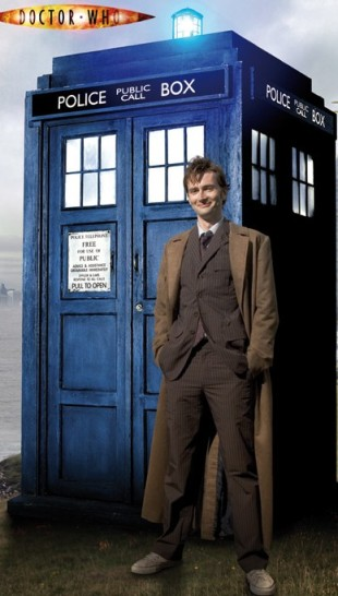 The 10th Doctor and the TARDIS